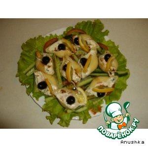 Рецепт: Закусочный салат «perla negra»