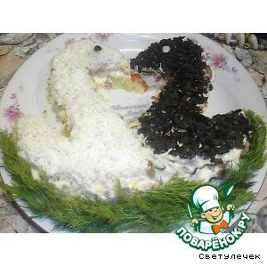 """Рецепт: Салат""""Лебеди"""""""