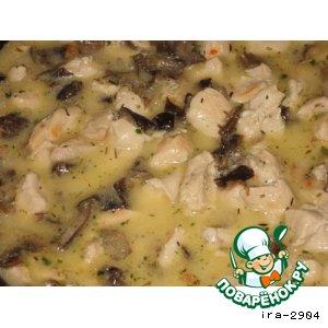 Подливка из курицы и грибов – кулинарный рецепт