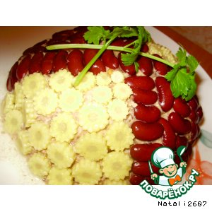 Рецепт: Салат «Морской блюз»