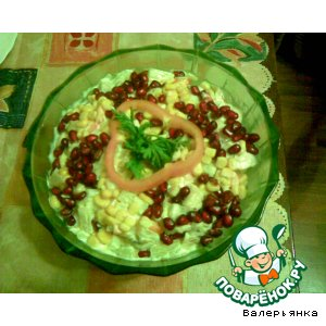 Рецепт: Салат на тему Гранатовый рай