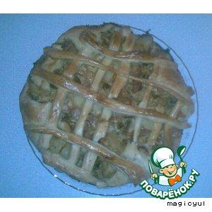 Рецепт: Пирог с шампиньонами и курицей