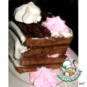 Рецепт: Шоколадный торт Заколдованное сердце Великана...