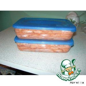 Рецепт: Слабосоленая рыба
