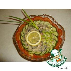 Рецепт: Салат с крабовым мясом Штиль
