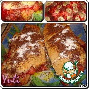 Рецепт: Рулет фруктово-ягодный с шоколадом
