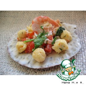 Рецепт: Салат «Жемчужины Красного моря»