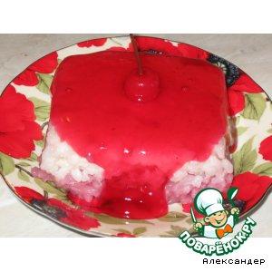 Рецепт: Рисовый пудинг двухцветный