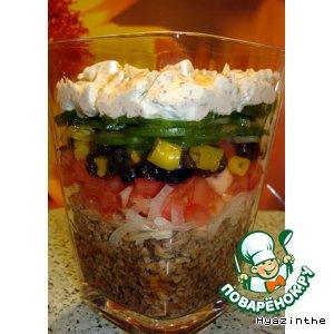 """Рецепт: Салат - слоенка """"Средиземноморье"""""""