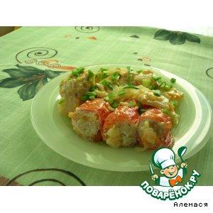 Рецепт: Фаршированные помидоры с гарниром Полевой пир