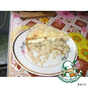 """Рецепт: Блинный пирог """"Масленица пришла"""""""