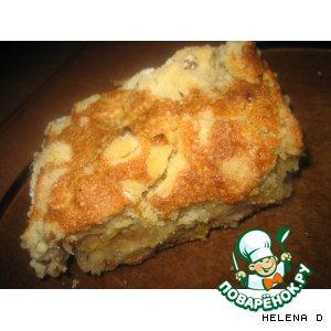 Рецепт Пирог насыпной яблочный