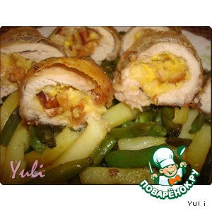 Рецепт: Жареные куриные бедрышки с орехами