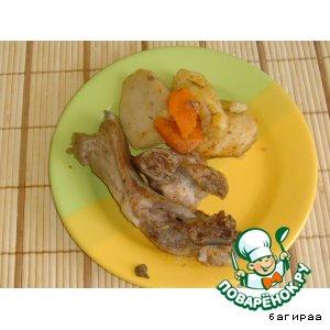 Рецепт: Свиные ребра с картофелем