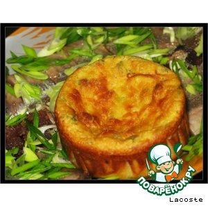 Рецепт: Мини-запеканки из картофеля с брынзой и зеленью