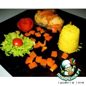 Рецепт Куриное филе, фаршированное абрикосами с сыром