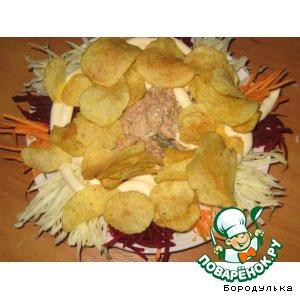 Рецепт: Салат Свинюшка в огороде