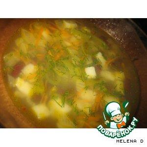 Рецепт: Вегетарианский фасолевый суп