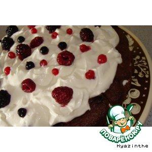 """Торт """"Ягоды под снегом"""" – кулинарный рецепт"""