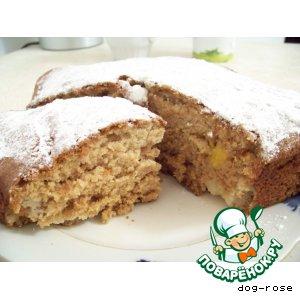 Рецепт: Пирог фруктовый «Чайный»