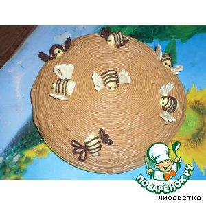 Тортик Улей с пчeлками