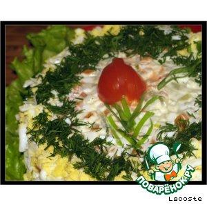 "Рецепт: Салат ""Тюльпан"""