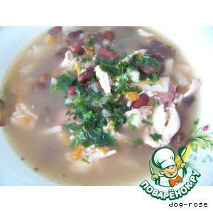 Рецепт: Суп с фасолью и грибами