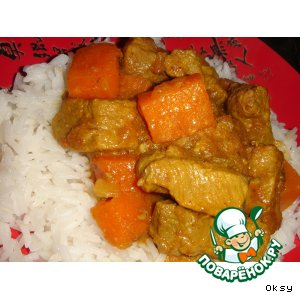 Рецепт: Говядина с карри и тыквой