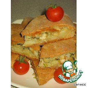 Рецепт: Пирог с пангасиусом и картофелем