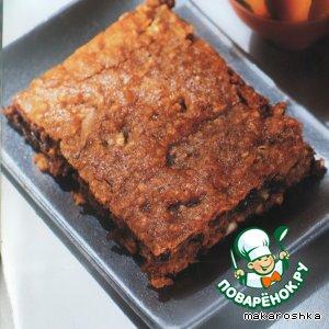 Рецепт: Овсяный торт с шоколадом