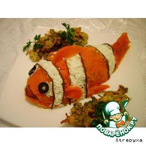Рецепт: Салат  Рыба клоун или Мой любимый Немо