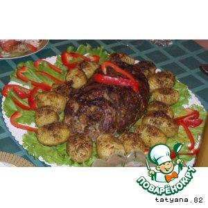 Рецепт: Рулет из говядины с грушами