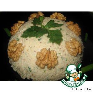 Рецепт: Паштет из сулугуни с грецкими орехами