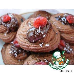 Рецепт: Печенье Шоколадное удовольствие