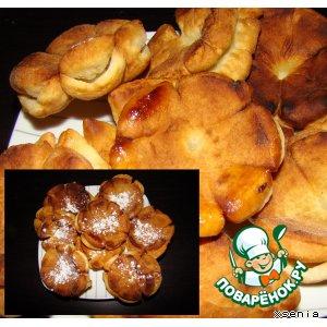 Рецепт: Пончики-цветочки
