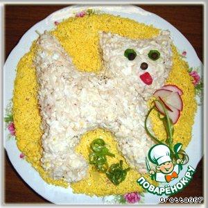 Рецепт: Салат Мартовский котик