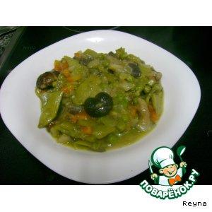 Рецепт: Солянка овощная легкая