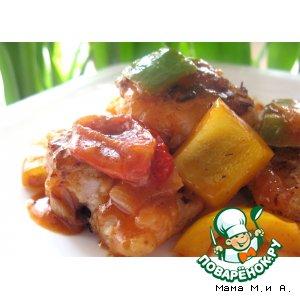 Рецепт: Белая рыба в кисло-сладком соусе