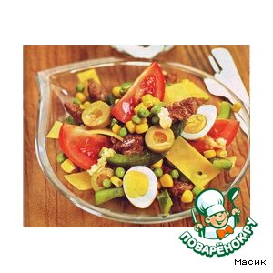 Рецепт: Салат из телятины с овощами