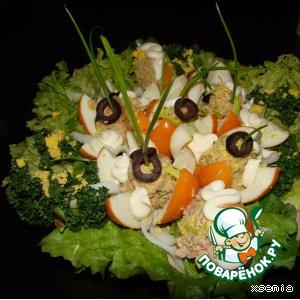 """Рецепт: Закусочный салат """"К празднику"""""""