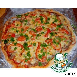 Рецепт: Пицца с тушeнкой