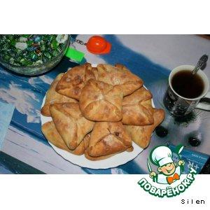 Рецепт: Пирожки треугольничками