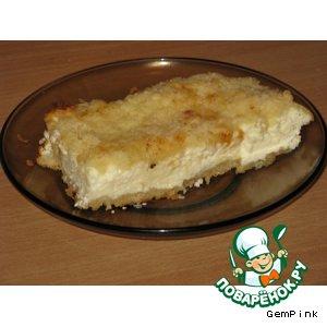 Рецепт: Рассыпчатый творожный пирог Лакомка