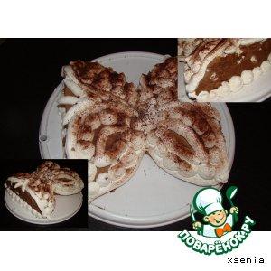 Рецепт: Шоколодно-сливочный торт № 2 . С безе