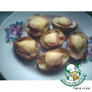 Рецепт: Картошечка в духовке с салом