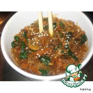 Рецепт: Корейская лапша Чап чей