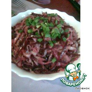 Рецепт: Салат из кислой капусты