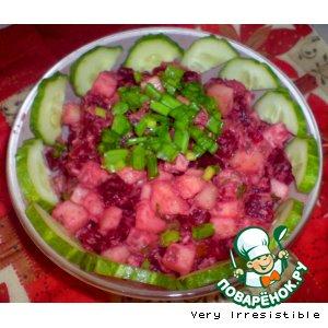 Рецепт: Салат со свеклой и тунцом