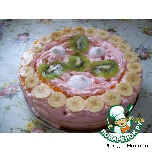 Рецепт: Зефирный торт с фруктами