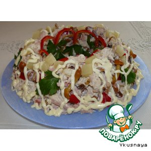 "Рецепт: Салат ""Вкуснятина"""